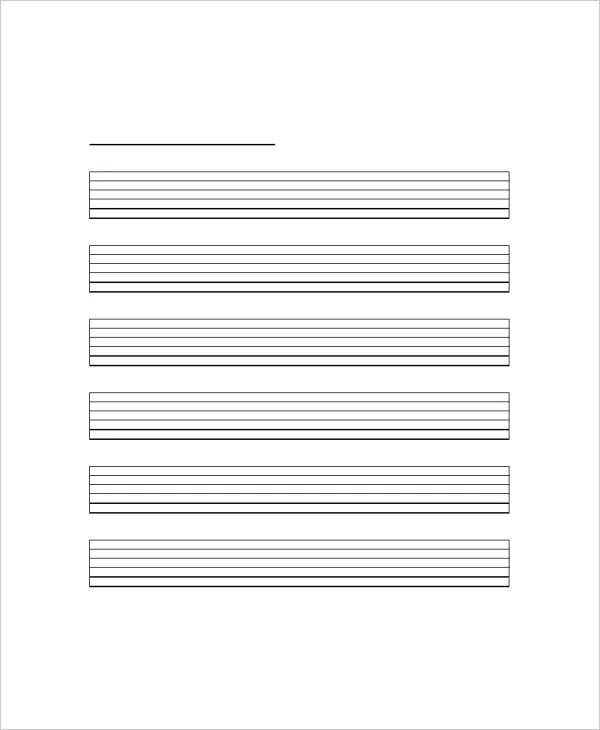5+ Blank Guitar Chord Charts - Free Sample, Example, Format Free