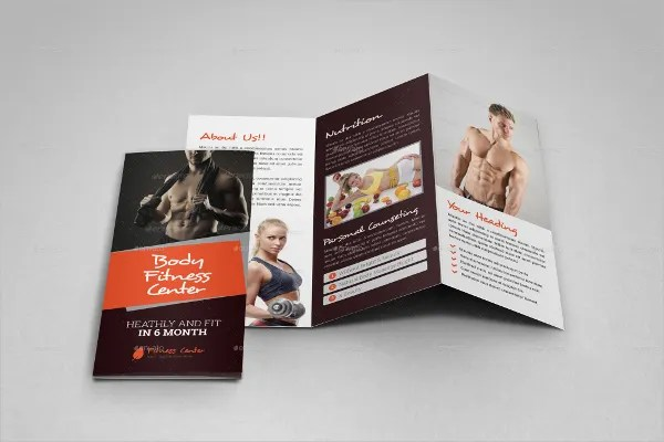 15+ Gym Brochure Templates - Free PSD, AI, Vector, EPS Format - fitness brochure template
