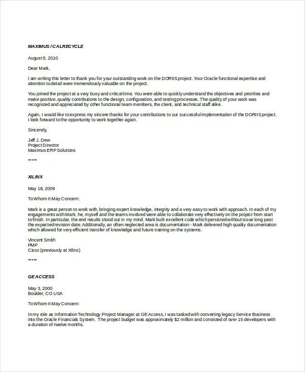 19+ Professional Reference Letter Template - Free Sample, Example