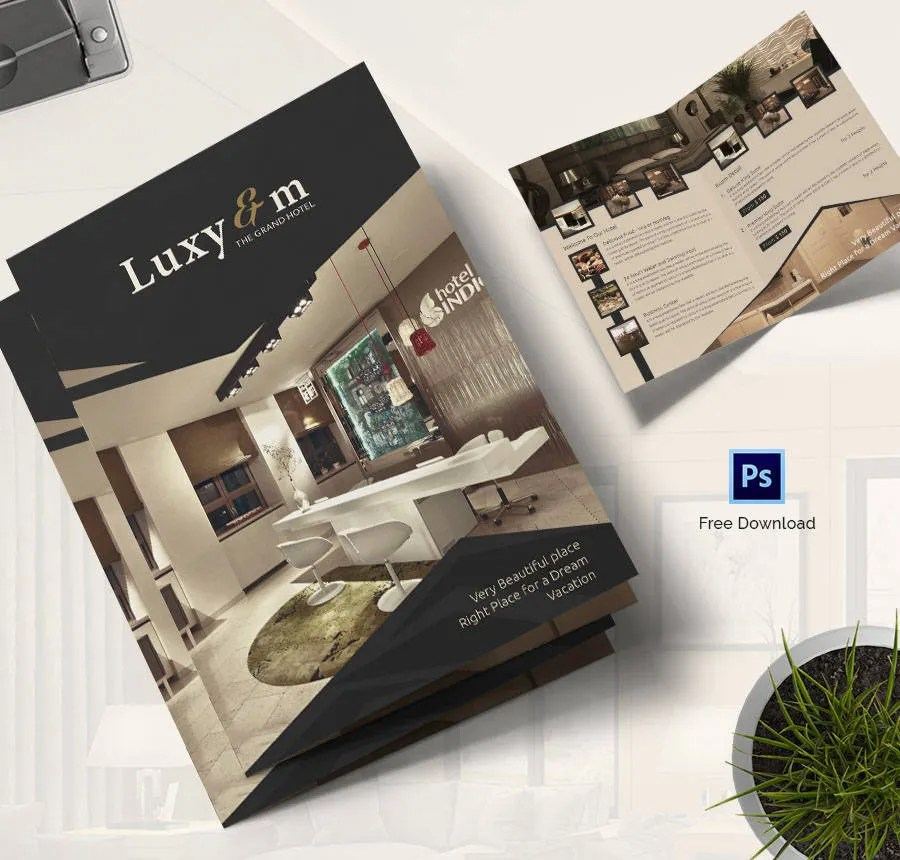 17+ Free Brochure Templates - Hotel, Corporate, Travel Free - hotel brochure template