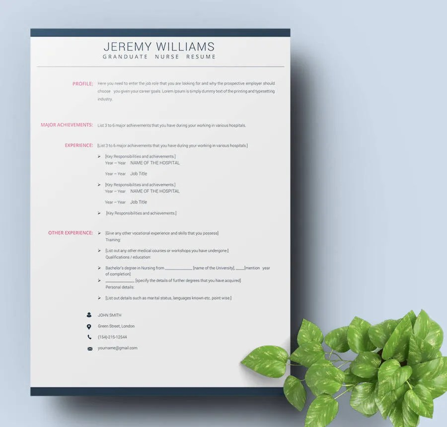 new grad nursing resume template hitecauto - nursing resume templates free