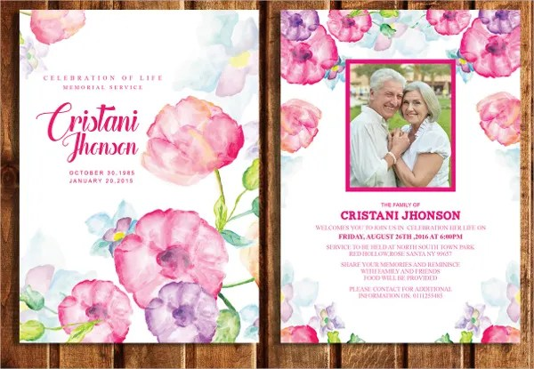 15+ Funeral Card Templates - Free PSD, AI, EPS Format Download - funeral announcement sample