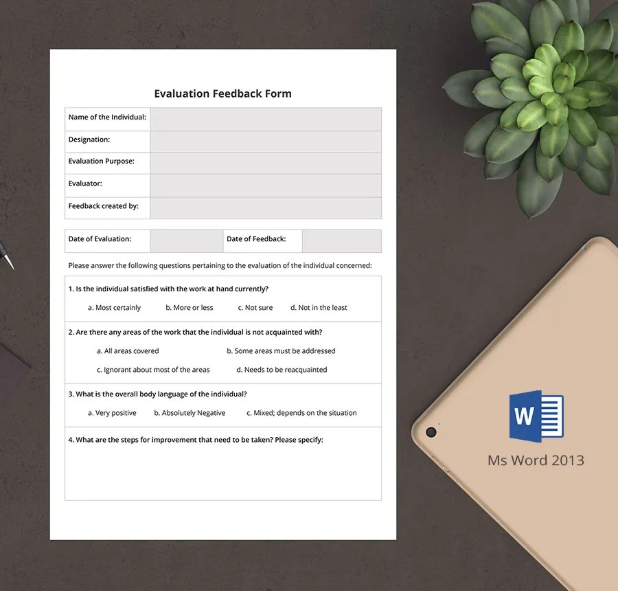 7+ Free HR Evaluation Forms - Interview, Training, Activity Free - hr evaluation form