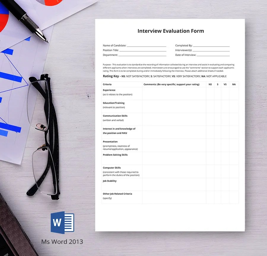 6+ Free HR Evaluation Forms - Interview, Training, Activity Free
