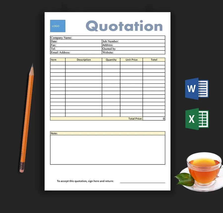 business quote template