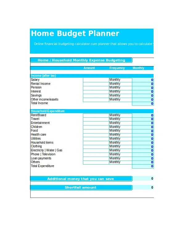 Excel Monthly Budget Template - 18+ Free Excel Document Downloads