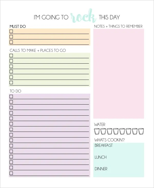11+ Daily Planner Templates - Free Sample, Example, Format Free - planner format