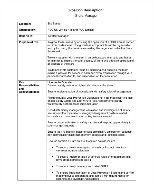 template for a job description - Funfpandroid - job description template word
