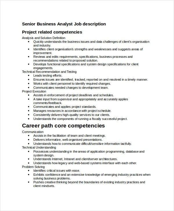 Example Of Business Analyst Job Description – Analyst Job Description
