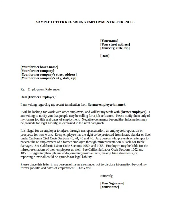 7+ Job Reference Letter Templates - Free Sample, Example, Format - How To Write A Reference Letter Uk