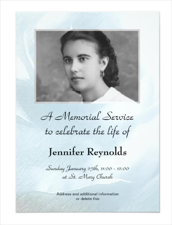 memorial service cards - Onwebioinnovate - memorial card templates microsoft word