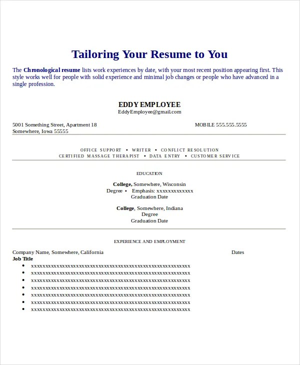 Seamstress Resume Template - 6+ Free Word, PDF Documents Download