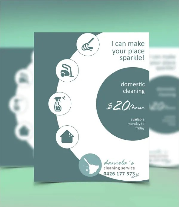 21+ Cleaning Service Flyers - Free PSD, AI, EPS Format Download - domestic cleaning agency