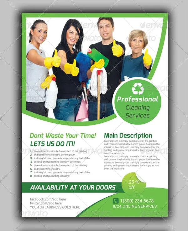 21+ Cleaning Service Flyers - Free PSD, AI, EPS Format Download - cleaning brochure template