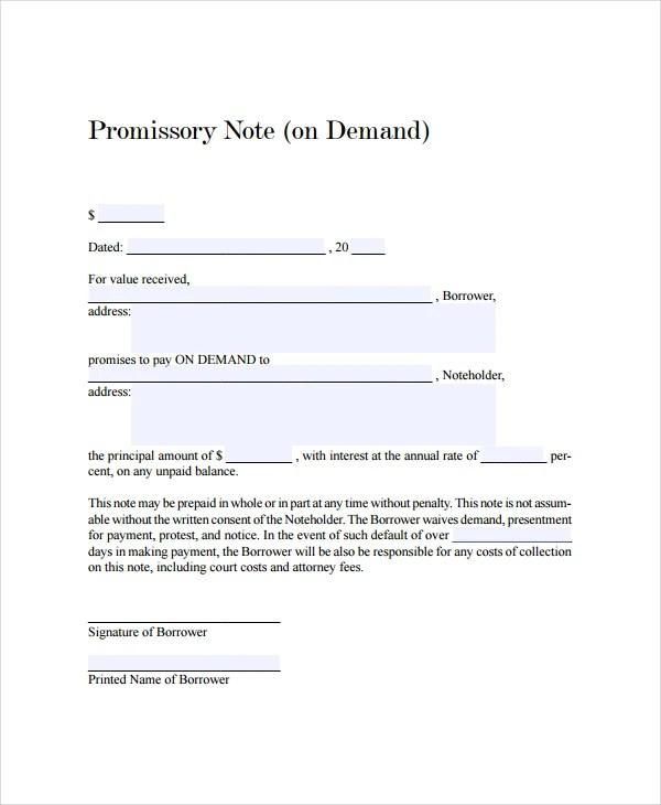 demand promissory note template trattorialeondoro