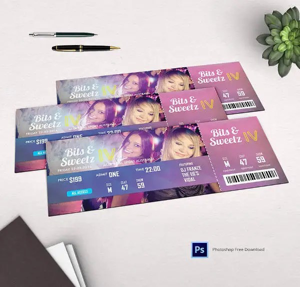 29+ Free Ticket Templates - Event, Holiday, Travel, Concert Free - party ticket template free