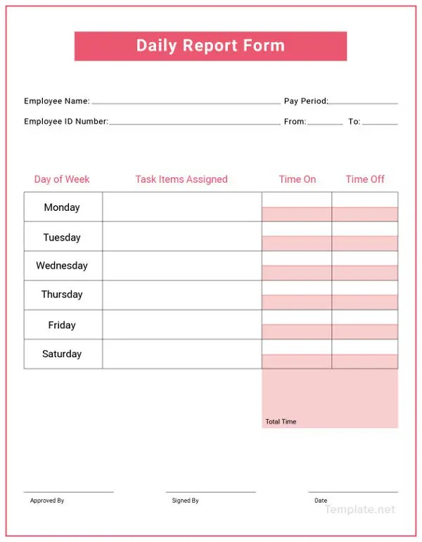 10+ Free Daily Report Templates - Construction, Sales, Production