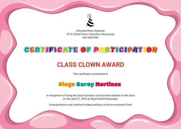10+ Funny Certificate Templates \u2013 Free Word, PDF Documents Download