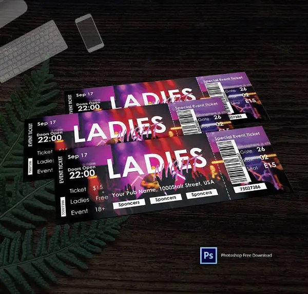 29+ Free Ticket Templates - Event, Holiday, Travel, Concert Free - party ticket template