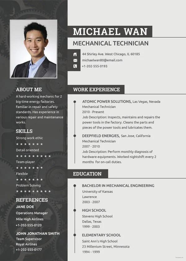 Mechanic Resume Template - 6+ Free Word, PDF Document Downloads