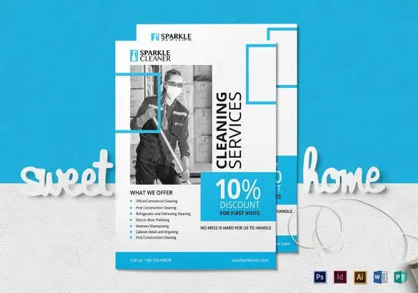 30+ Cleaning Service Flyer Designs  Templates - PSD, AI Free