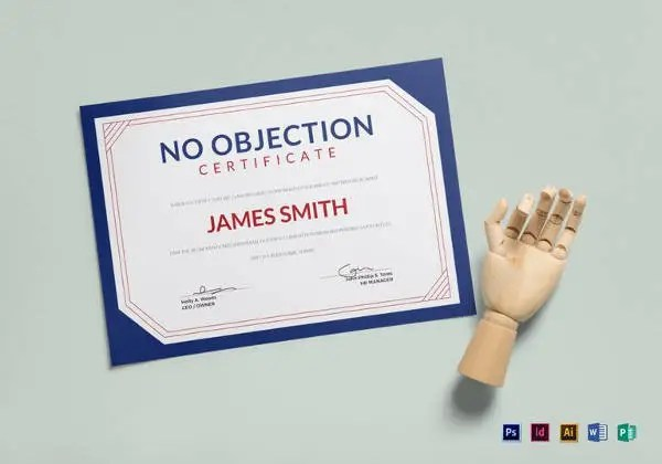 12+ No Objection Certificate Templates - PDF, DOC Free  Premium - no objection certificate from employer sample
