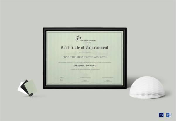 Soccer Certificate - 15+ Word, PSD Format Download Free  Premium - soccer certificate template