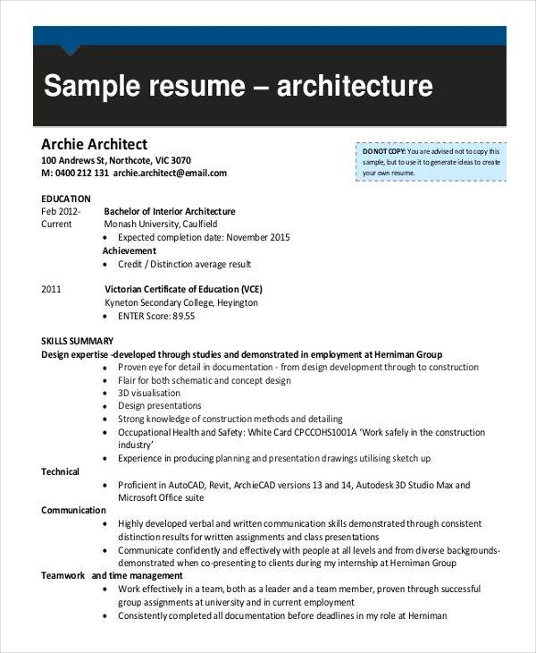 sample draftsperson resume