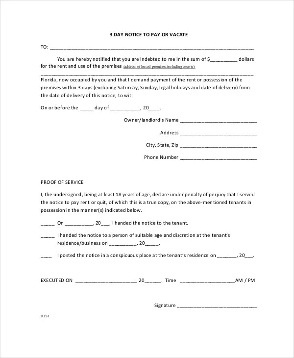 10+ Printable Eviction Notice Forms - PDF, Google Docs, MS Word