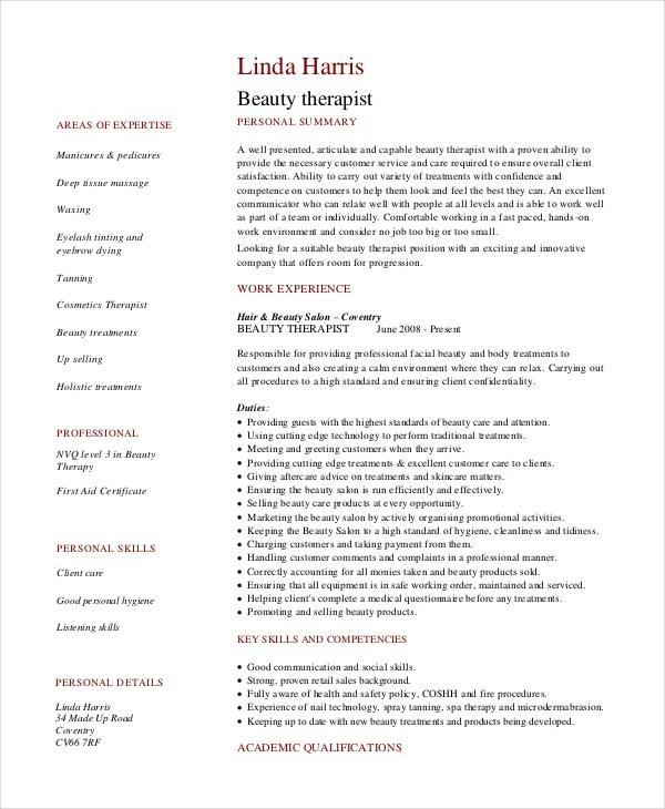 18+ Sample Resume Objectives - PDF, DOC Free  Premium Templates - beautician resume sample