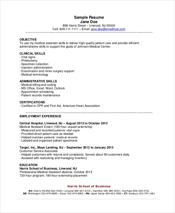 objectives for medical assistant - 28 images - sle resume objective - medical assistant objective for resume