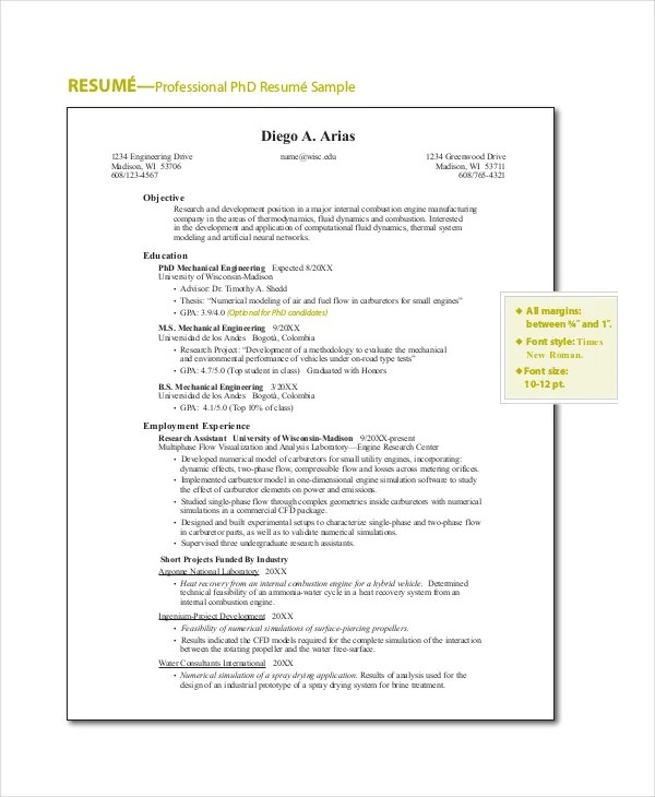 18+ Sample Resume Objectives - PDF, DOC Free  Premium Templates