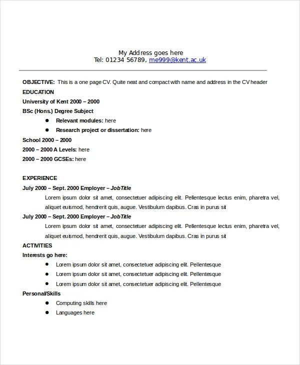 standard objective for resume - Alannoscrapleftbehind