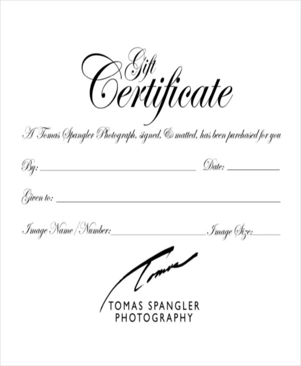 Gift Certificate Template - 8+ Free Word, PDF Document Downloads - gift certificate template free word
