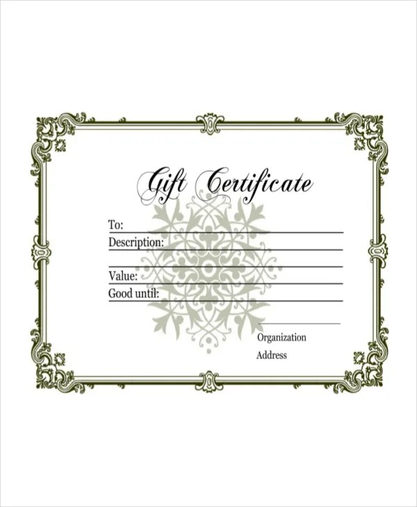 Gift Certificate Template - 8+ Free Word, PDF Document Downloads