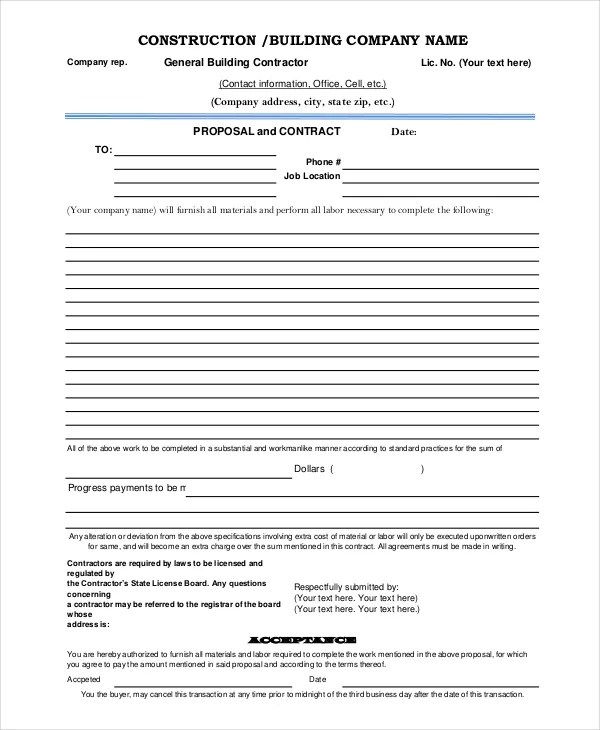 Proposal Template - 8+ Free Word, PDF Document Downloads Free