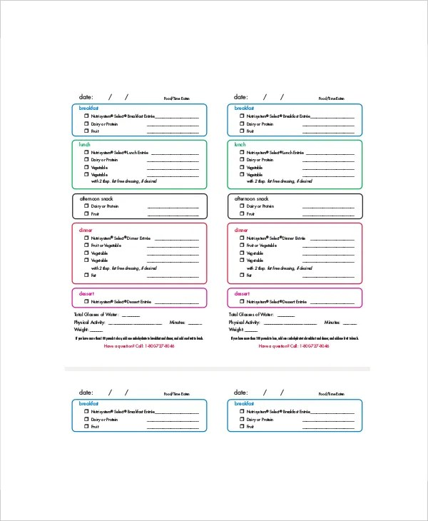 Daily Menu Planner Template - 6+ Free PDF Documents Download Free - daily menu planner template