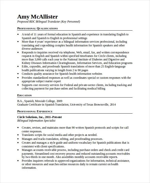 resume objective examples bilingual resume ixiplay free resume