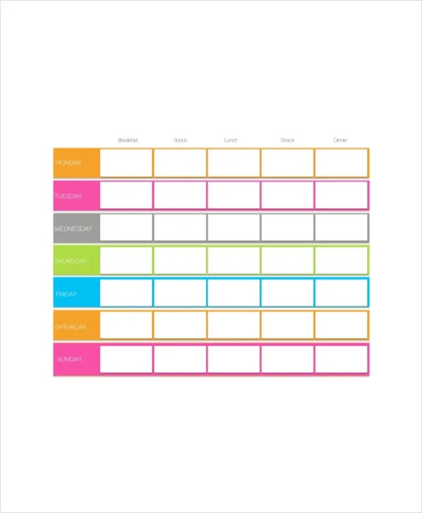 cute daily schedule template - Josemulinohouse