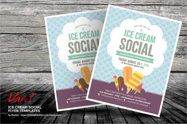 17 + Ice Cream Flyer Templates - PSD, AI, EPS Vector, Word Free
