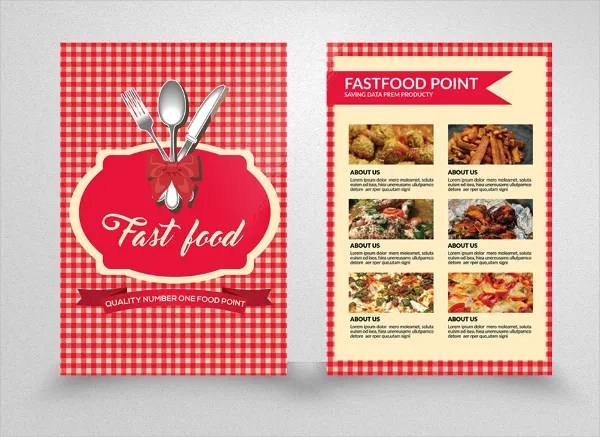 23+ Fast Food Flyer Templates - Free PSD, AI, Vector, EPS Format - double sided brochure templates