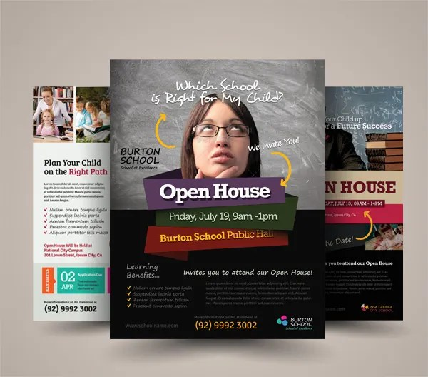 100 Free Open House Flyer Templates Kindergarten Brochure