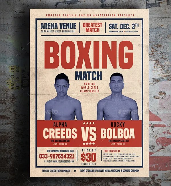 boxing poster template - Akbagreenw