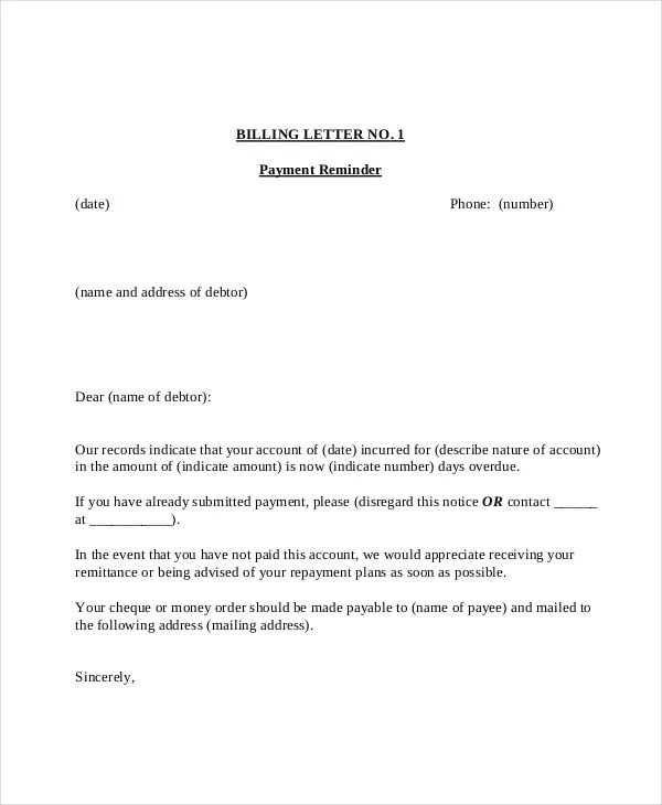 letter of payment - Yelomdigitalsite