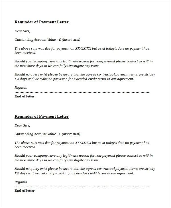 10+ Payment Reminder Letter Templates - PDF, DOC Free  Premium