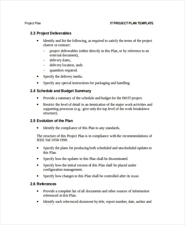 Project Plan Template - 12+ Free Word, PSD, PDF Documents Download - project plan template