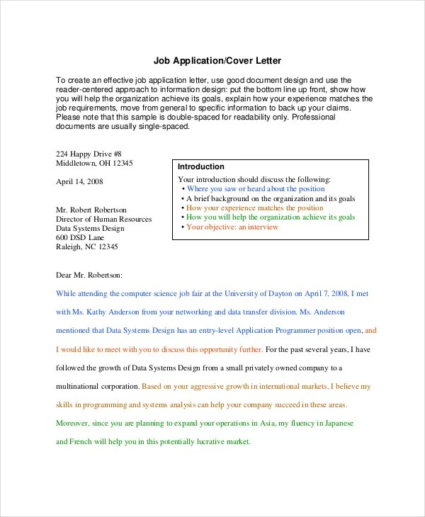 Job Apply Cover Letter