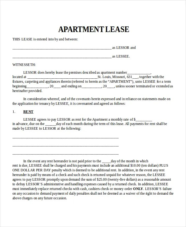 Property Lease Template - 4+ Free Word, PDF Document Downloads