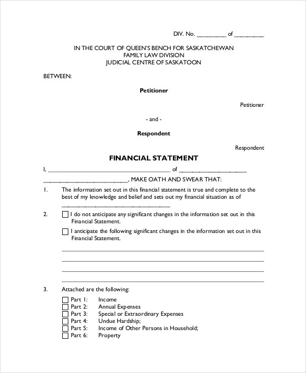 Legal Statement Template - 11+ Free Word, PDF Document Downloads - affidavit statement of facts