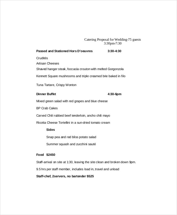Catering Proposal Template - 9+ Free Word, PDF Documents Download